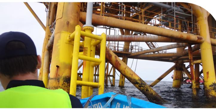 Mantenimiento de Estructuras metálicas marinas